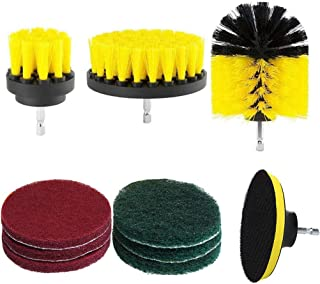 TOPGEE Drill Brush Scouring Pad Hard Water Stain Remover for Grout Tiles Sinks Bathtub Bathroom Kitchen 10 Pcs Brush Spin Brush for Fast and Easy Cleaning