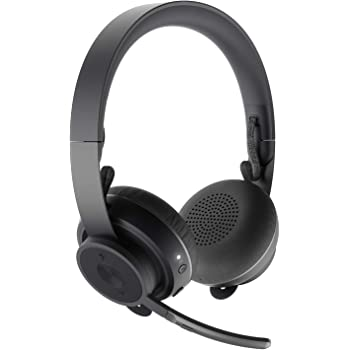 Amazon Com Logitech Zone Wireless Bluetooth Headset Black Computers Accessories