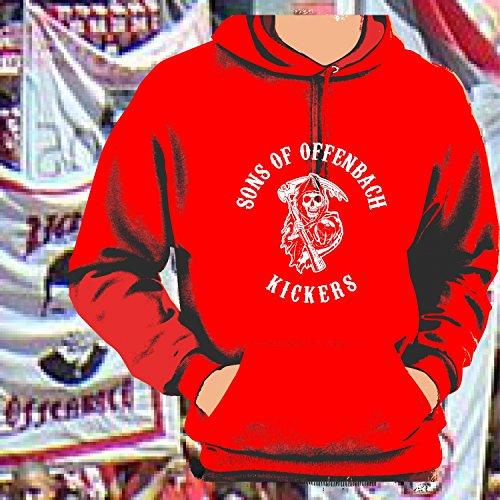 World of Football Kapuzenpulli Sons of Offenbach Kickers rot - XXL
