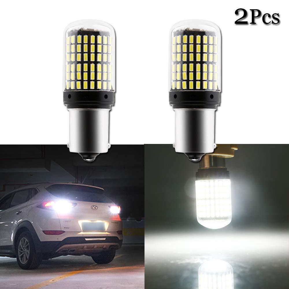 GLL 2pcs Blanc 1156 Ampoules /à LED P21W 1141 1003 BA15S 7506 Ampoules /à LED avec 21-3030-SMD 720 Lumens Pour Feux de Recul de Voiture Feux de Recul Feux de Freinage Feux Arri/ère 6500K Blanc X/énon