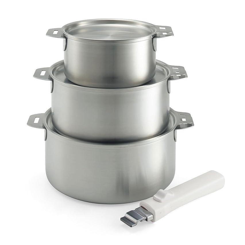 局小川時間厳守[ベルメゾン] 取っ手 が 外せる 鍋 [日本製] タイプ:7点セット