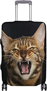 Mydaily Angry Bengal Cat Luggage Cover Fits 26-28 Inch Suitcase Spandex Travel Protector L