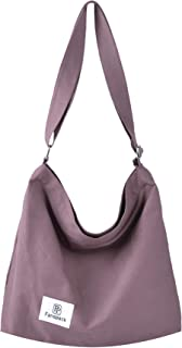 Fanspack Women's Canvas Handbag Shoulder Bag Crossbody Bag Top Handle Bag Shopping Work Bag