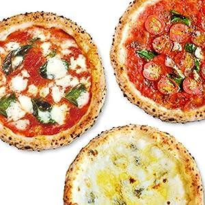 【公式】【冷凍ピザ】PIZZA SALVATORE CASA ナポリピッツァお試しセット 3枚 (マルゲリータ、4種のチーズのピッツァ、マリナーラ) (直径21cm×3枚) 国産小麦 手作り 窯焼き サルヴァトーレ クオモ