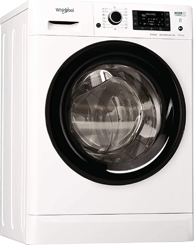 Whirlpool,lavasciuga da 10 kg, classe a, 1600 giri, vapore FWDD1071682WBV