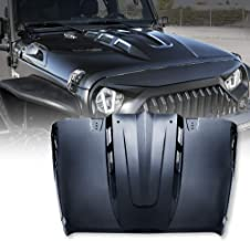 Xprite Black Avenger Series Heat Dispersion Steel Cowl Hood Vent Scope for 07-18 Jeep Wrangler JK JKU