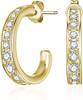 Mestige Gold Matilda Earrings with Swarovski Crystals
