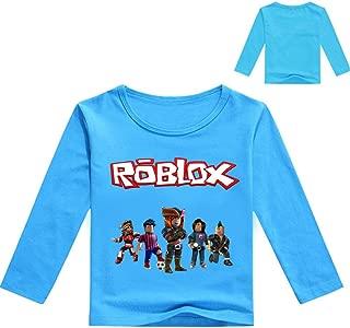 NINIUBAL Roblox Maglietta Street Style Abbigliamento per Bambini Camicie Maniche Corte T-Shirt in Cotone Elasticizzato con Fibre di bamb/ù Ragazzi e Ragazze