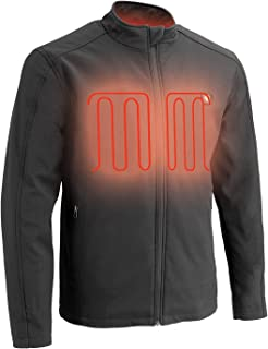 Milwaukee Performance-Men's Zipper Front Heated Soft Shell, Black, Size Large