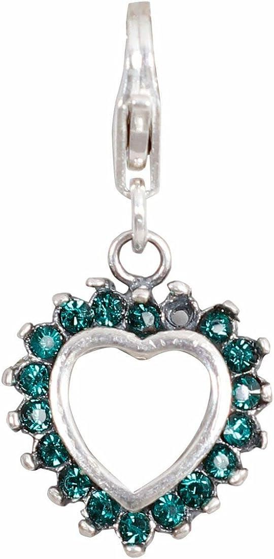 Silverwala 925 Sterling Silver Green Indefinitely Men Heart for Pendant Financial sales sale Women