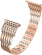 TeaBoy Bling Bands Compatible with Fitbit Versa/Versa 2,Women Men Girls Metal Bracelet Replacement Wristband with Rhinestones Smartwatch Accessories Compatible with Fitbit Versa/Versa 2