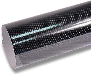 TECKWRAP High Gloss 4D Black Carbon Fiber Vinyl Wrap Film Sheet for Car DIY Interior..