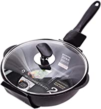 DPWH Cooking Utensils Frying Pan, Pan With Lid Small Frying Pan Non-stick Pan Non-stick Cooker Nougat Home Wok Deep Frying...