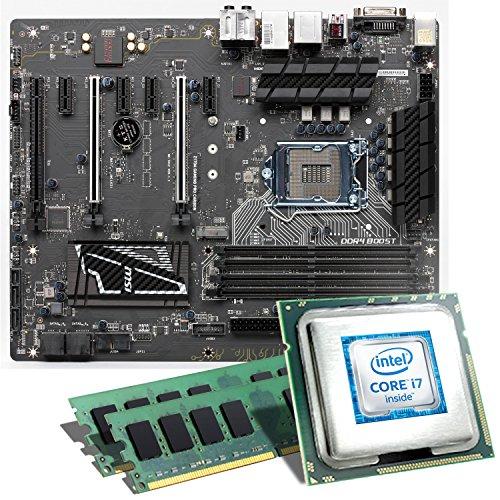 Intel Core i7-6700K / MSI Z170A GAMING PRO CARBON Mainboard Bundle / 16384 MB   CSL PC Aufrüstkit   Intel Core i7-6700K 4x 4000 MHz, 16 GB, Intel HD Graphics 530, GigLAN, 7.1 Sound, USB 3.1 Gen 2   Aufrüstset   PC Tuning Kit