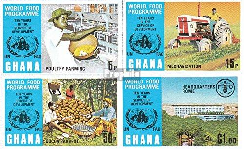 Ghana 526B-529B (complète.Edition.) 1973 Alimentation (Timbres pour Les collectionneurs) Circulation routière