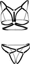 L04BABY Full Body Harness Set Strappy Bra Strap Crop Tops Lingerie Plus Punk