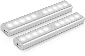 [Pack 2 Unidades] Lámpara LED de pared, YOKKAO Luz de Noche con Sensor de Movimiento y Detector de Luz (Color Blanco Cálido) [2 Unidades]