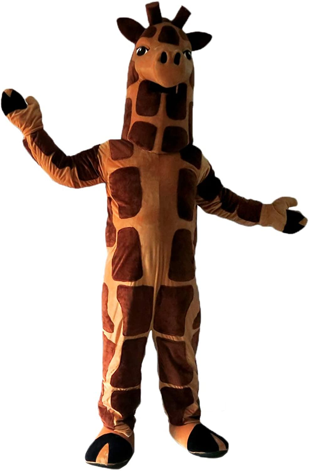 Giraffe Cartoon Mascot Costume Real Picture 1520days delivery
