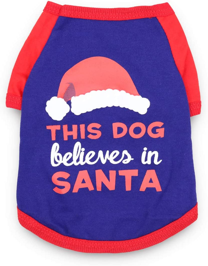DroolingDog Dog Ranking TOP15 Christmas T Shirt Clothes Outstanding for Pet Smal