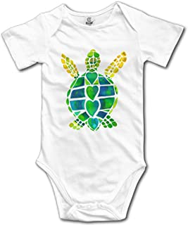 HYstyless Sea Turtle Romper Baby Boys Girls Short Sleeve Bodysuit Outfits