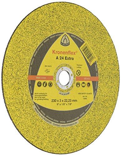 Kronenflex 13492 A 24 Extra Disque à tronçonner convexe, 230 x 30 mm, Jaune