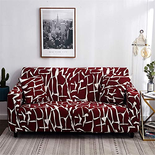 Polyester Printed Sofa Cover, Universal Stretch All-Inclusive Sofa Cover 1/2/3/4 Seat
