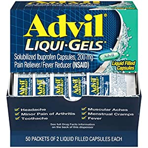 FAST LIQUID PAIN RELIEF: Advil Liqui-Gels help you feel better fast The medicine in Advil Liqui-Gels (Ibuprofen) is already dissolved in a soft gelatin capsule and works quickly to relieve pain at the site of inflammation EASY ON-THE-GO PACKET: Perfe...