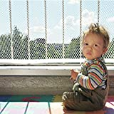 Banister Guard | Baby Safety Stairs Rail Net | Child Proofing Balcony Banister Railing Guard |Indoor 10ft x 2.5ft White