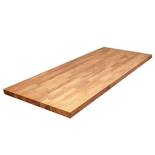Tischplatte Eichenholz Massivholzplatte Eiche Massiv Holz DIY Esstisch 120x70