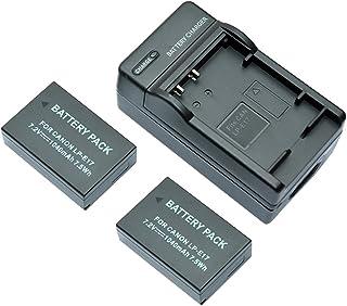 mondpalast@ 2X Reemplazo batería LPE17 LP-E17 1040mAh + cargador para Canon EOS 760D EOS 750D EOS M3