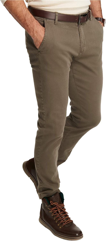 Weatherproof Mens Basket Weave Casual Chino Pants, Green, 38W x 34L