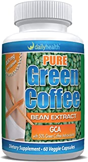 Daily Health, Green Coffee Bean Extract GCA 800mg Weight Loss Management Supplement 60 Capsules