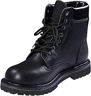 Men's Work Boots Outdoor Safety Boots Cowhide Waterproof Insulation shoes Black