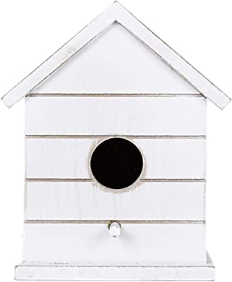 Adams and Co Distressed Farmhouse Alabaster 5 x 7 Inch Wood Decorative Birdhouse