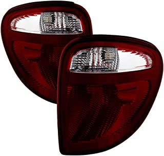 Driver + Passenger Side OE-Style Smoke Red Lens Tail Light Housing Lamp Assembly Replacement For 2004-2007 Dodge Grand Caravan Chrysler Voyager
