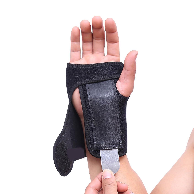 迷惑スクラップ実験をするSUPVOX 手首ブレース手根管手圧縮サポートラップ手首副木(スチールボード付き)(右手)