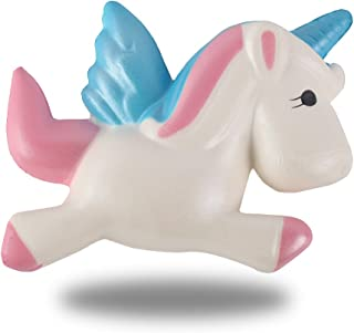 Anboor 4.5 Inches Slow Rising Squishies Unicorn Pegasus Kawaii Scented Soft Squishies Dream Color Animal Toys