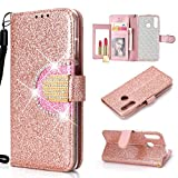 UEEBAI Wallet Flip Case for Samsung Galaxy A20E,Glitter PU
