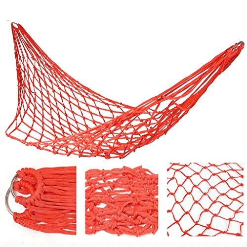 DGF Outdoor net nylon cordon hamac créatif loisirs camping hammock120cm 200cm - mode (Couleur : B)