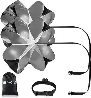 Speed Chute Pack of 2 56 Inch Running Speed Training Speed Parachute Training Parachute Running Resistance Power Chute (Black)