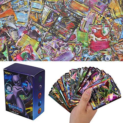 100 Piezas Pokemon Cartas, Pokemon Trading Cards, XY Series GX Cartas EX MEGA Cartas (60EX +20GX +20Mega)