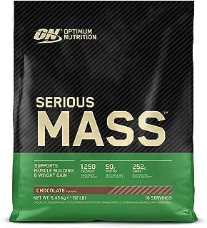 comprar comparacion Optimum Nutrition ON Serious Mass Proteina en Polvo Mass Gainer Alto en Proteína, con Vitaminas, Creatina y Glutamina, Cho...