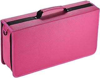 Leepesx 120 Slots Portable Marker Pen Bag Folding Marker Pen Case Holder Organizer with Hand Shoulder Strap for Artists St...
