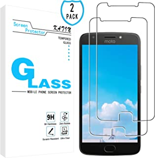 KATIN Moto E4 Plus Screen Protector - [2-Pack] Tempered Glass for Motorola Moto E4 Plus Bubble Free, Easy to Install with Lifetime Replacement Warranty