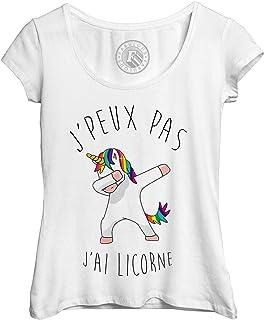 e96273f0f98a9 Fabulous T-Shirt Femme J Peux Pas J Ai Licorne Humour Dessin Licorne