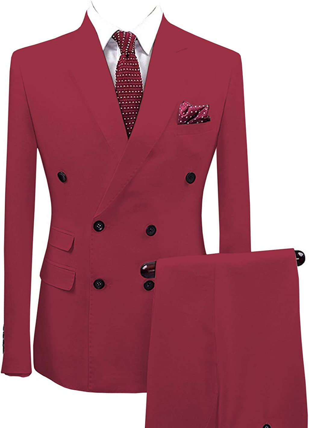 ToonySume Men's Suits 2 Pieces Notch Breasted Double Regular Fit San Antonio Mall Latest item