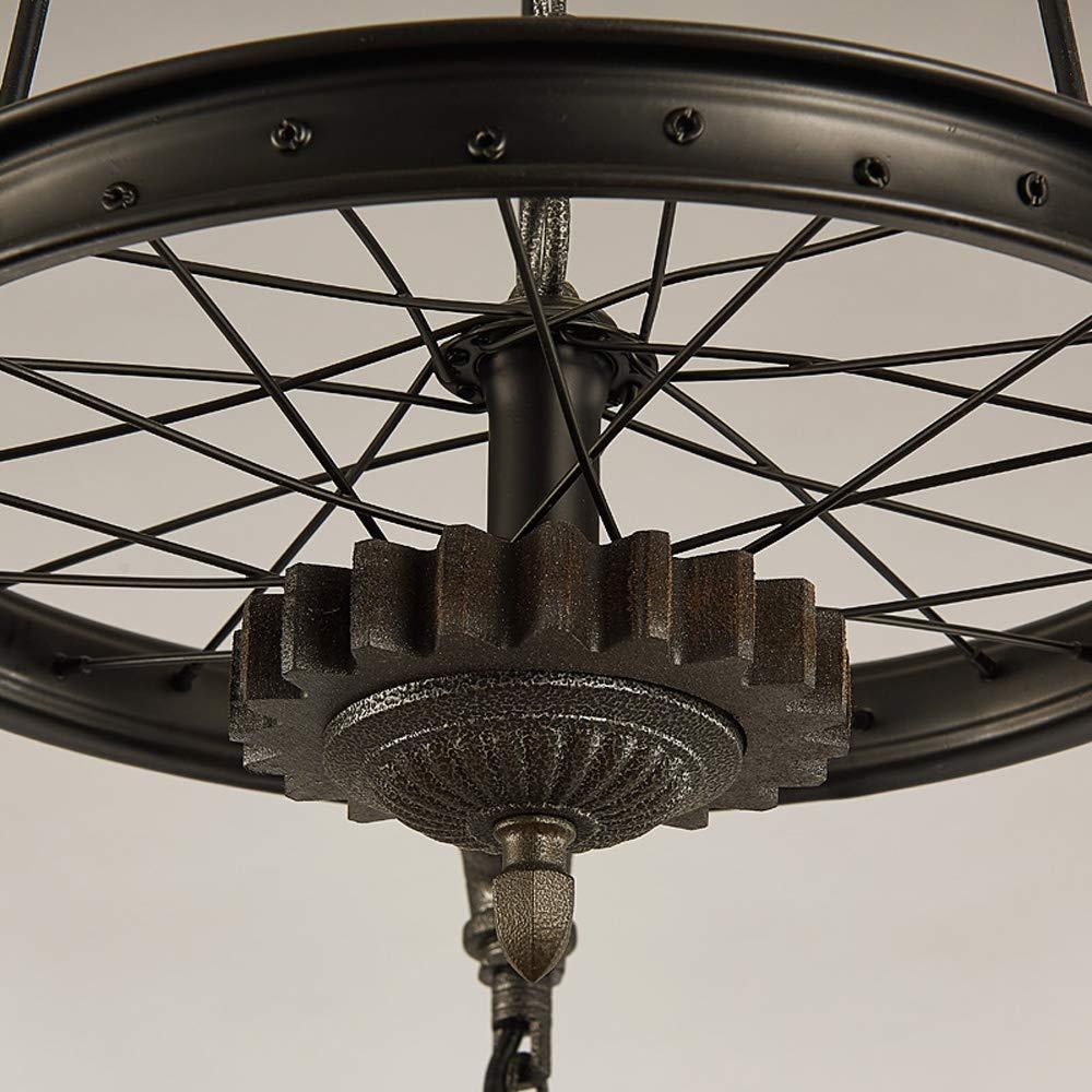 Personalidad Retro Bicicleta Loft Techo Lámpara Colgante 3 Luces Steampunk Tubería de Agua Industrial Industrial Lámpara Colgante Antiguo Edison Sala de Exposiciones Comedor Restaurante Cellin: Amazon.es: Iluminación