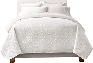 Regal Home Collections English Manor Lacey Pinsonic Quilt (Full/Queen) - Assorted Colors (White)