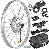 AW 24' Electric Bicycle Front Wheel EBike Conversion Kit for 24' x 1.75' to 2.1' Tire 36V 750W Motor
