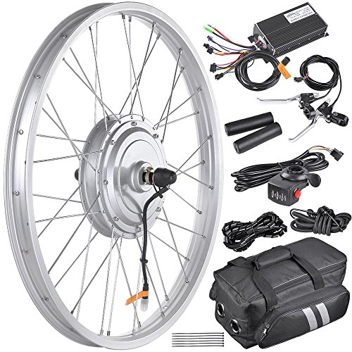 """AW 24"""" Electric Bicycle Front Wheel EBike Conversion Kit for 24"""" x 1.75"""" to 2.1"""" Tire 36V 750W Motor"""